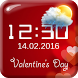 Valentine's Day Digital Clock by The World of Digital Clocks