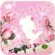 Pink rose love Keyboard theme by Fantasy Keyboard studio