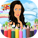 Drawing and coloring Barbie by Newapp