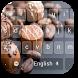 Chocolate Cream Keyboard Theme by beautifulwallpaper