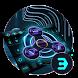 Neon fidget spinner 3D tech keyboard by Bestheme Keyboard Designer