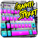 Graffiti street rock keyboard by Hiro studio