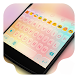 Simple Colorful Dream Theme by Kitty Emoji Keyboard Design