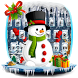 Cute Christmas Snowman Keyboard theme by Super Cool Keyboard Theme