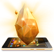 Gold Crystal Luxury 3D Theme by Launcher 3D Pro