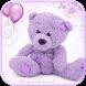 Violet Teddy Bear Theme by MT Digits