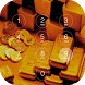Gold Theme Keypad Lock Screen by davo-davo33