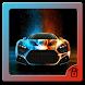 Neon car theme speed supercar
