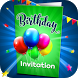 Birthday Invitation Card Maker by Funny Booth Apps For Kids