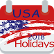 USA 2018 Holidays by easyincc