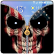USA Skull Zipper Lock Screen