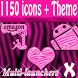 Pink Zebra theme and icon pack by XOTHEMES