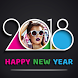 Happy New Year Photo Frames & DP 2018 by Six sense Technology