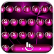 Keyboard Theme Spheres Pink