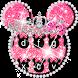 Pink Cute Minny Bowknot Keyboard Theme by theme master