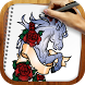 Draw Tаttoo Old School by Rainbow Sketching Apps