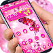 3d pink butterfly rose theme by cool theme creator