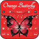 Orange Butterfly Keyboard by Luna Themes