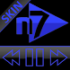 SKIN N7PLAYER DARK GLASS BLUE by Tak Team Studio