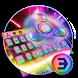 Fidget spinner Titanium alloy color keyboard by Bestheme Keyboard Designer