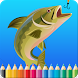 Fish Coloring Book For Kids by Life & Kids Station.
