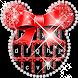Red Minny Cute Bowknot Micky Keyboard Theme
