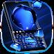 Ice Crystal Blue Keyboard by Super Cool Keyboard Theme