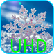 Snowflakes On Black UHD LWP