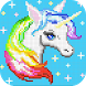 Coloring Unicorn Book Sandbox Color By Number Page by my store app