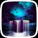 Blue Nature Waterfall Theme by yuqingtheme
