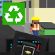 Garbage Truck Blocky by Fun Maker 3D
