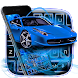 Dynamic Blue Car Keyboard Theme by Classic Android Themes