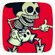 Skull Cartoon Mouse Theme by Huizhang Theme