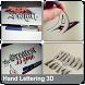 Hand Lettering 3D by Bregidau OK