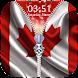Canada Flag Zipper Lock Screen