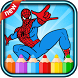 super heros coloring amazing of spider game by coloring world for kids