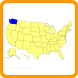 Guess Map US States Capitals by AVOCADEV