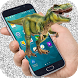 Dinosaur on Screen Dinosaur Jump in Phone Joke by joya barn