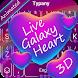 ANIMATED Keyboard Live Galaxy Heart