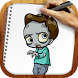 Draw Zombies and Vampires by Rainbow Sketching Apps