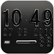 Digi Clock Widget Black Star by Maystarwerk Clocks & Themes Vol.1