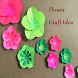 Flower Paper Craft Idea by mahbub212