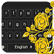Gold Rose Keyboard by beautifulwallpaper