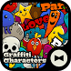 Pop Wallpaper Graffiti Characters Theme by +HOME by Ateam