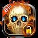 Fire Skull Pattern Lock Screen 2018 by Weather Widget Theme Dev Team