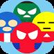 Superheroes Emoji Revolve Time