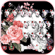 Rose skull Keyboard theme by Fly Liability Themes
