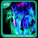 Newest Neon Animals Wallpaper