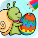 Easter eggs coloring pages by Belenchu Intercom