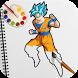 Hero Goku Saiyan Coloring Book for Kids